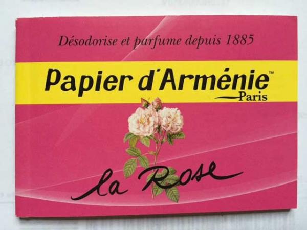 Carta Aromatica Papier d'Arménie alla Rosa